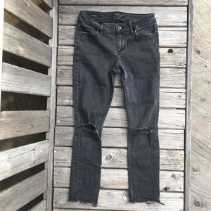 Lucky Brand Lolita Skinny Ripped Frayed Hem Jeans